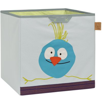 Cube de rangement jouets Wildlife Oiseau (32,5 x 33,5 cm) Lässig