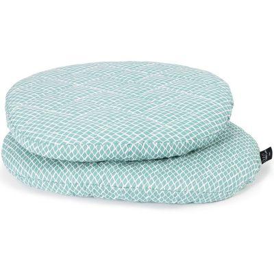 Coussins pour chaise haute Tibu Diamond blue  par Charlie Crane