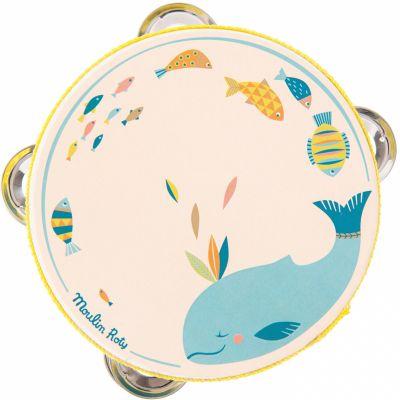 Tambourin baleine Jospéhine Le voyage d'Olga  par Moulin Roty