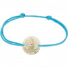 Bracelet cordon enfant Rêveur (or jaune 375°)
