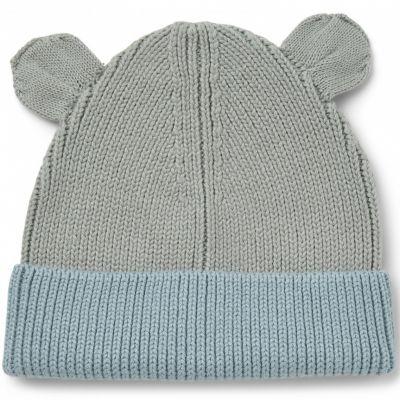 Bonnet en coton bio Gina blue mix (3-9 mois)  par Liewood
