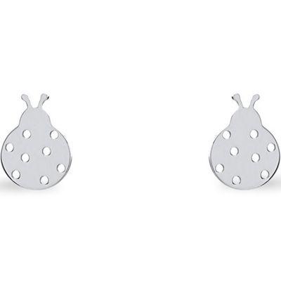 Boucles d'oreilles Nature coccinelle (argent 925°)  par Coquine