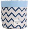 Panier de toilette Mambo Zigzag bleu (15 x 16 cm) - Nobodinoz