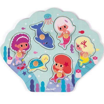 Puzzle à encastrement Happy Mermaids (6 pièces) Janod