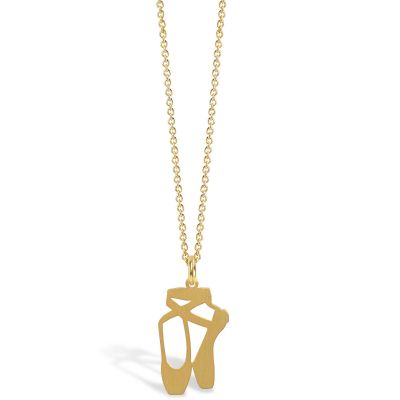 Collier chaîne 40 cm pendentif Mini Coquine ballerine 18 mm (vermeil doré)  par Coquine