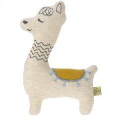 Peluche tricoté Glama Lama bleu (22,5 cm)