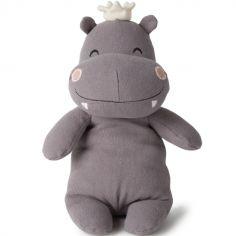 Peluche hippopotame avec couronne (23 cm)