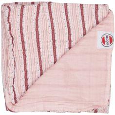 Couverture bébé en coton Dreamer Xandu Sensitive rayure rose (120 x 120 cm)