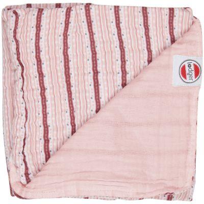 Couverture bébé en coton Dreamer Xandu Sensitive rayure rose (120 x 120 cm)  par Lodger