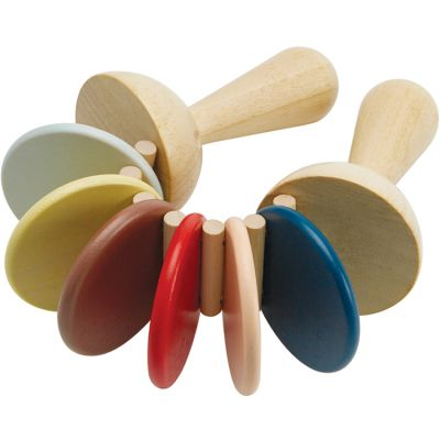 Claquettes en bois couleurs tendresse Plan Toys