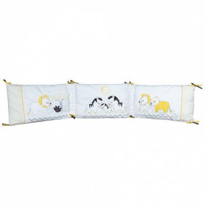 Tour de lit Pluche et Pompon (pour les lits 60 x 120 cm et 70 x 140 cm)  par Sauthon