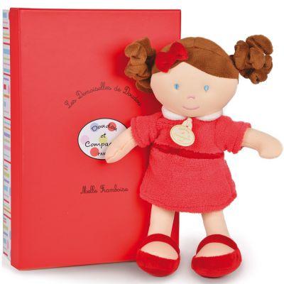 Coffret mademoiselle Framboise Les demoiselles de doudou rouge (30 cm)  par Doudou et Compagnie