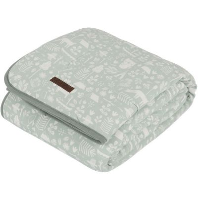 Couverture bébé en coton pure & soft Adventure mint (70 x 100 cm)  par Little Dutch