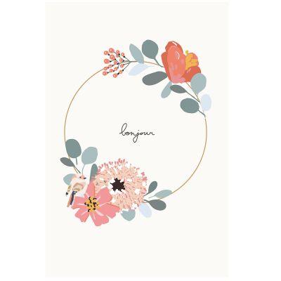 Grande affiche couronne de fleurs Bonjour Jill (60 x 40 cm)  par Mimi'lou