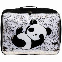 Petite valise à paillettes Panda