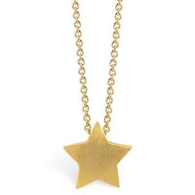 Collier chaîne 40 cm pendentif Full étoile 08 mm (vermeil doré)  par Coquine
