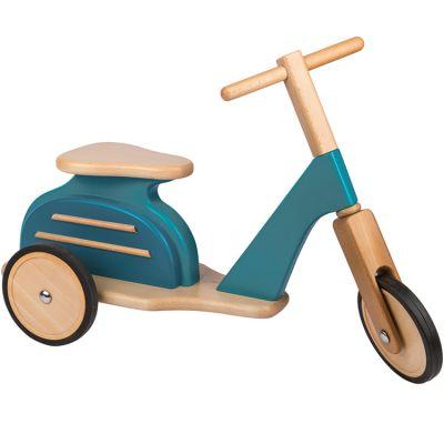 Draisienne Scooter en bois bleu  par Moulin Roty