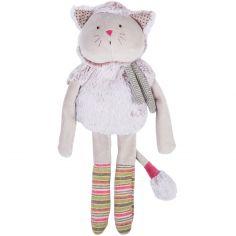 Peluche chat gris Les Pachats (36 cm)