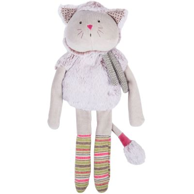Peluche chat gris Les Pachats (36 cm) Moulin Roty