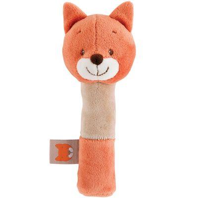 Hochet peluche Oscar le renard (17 cm)  par Nattou