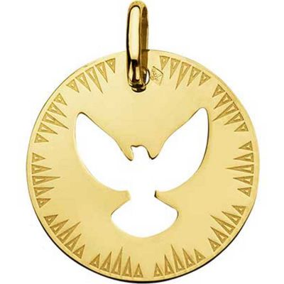 Médaille ajourée Colombe (or jaune 750°)  par A.Augis
