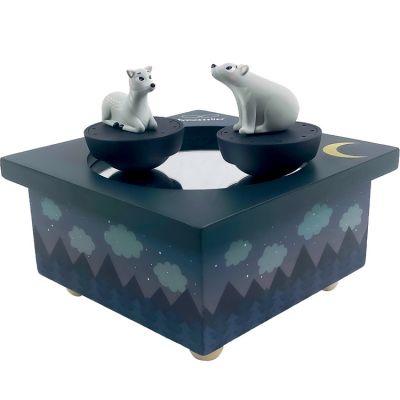 Boîte à musique magnétique Faon et Ours dans la Forêt  par Trousselier