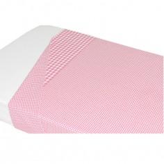 Drap de lit Vichy rose (100 x 80 cm)