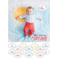 Maxi lange avec cartes étapes de bébé You are my sunshine (7 cartes recto verso)