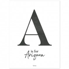 Affiche A is for Arizona (30 x 40 cm)