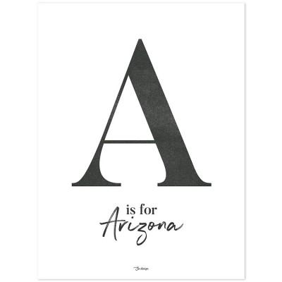 Affiche A is for Arizona (30 x 40 cm)  par Lilipinso