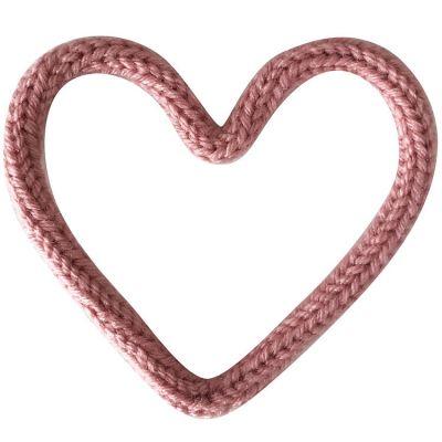 Déco murale petit coeur en tricotin (personnalisable)