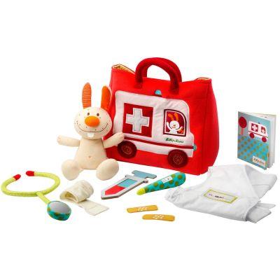 Mallette ambulance du petit docteur (10 pièces)  par Lilliputiens