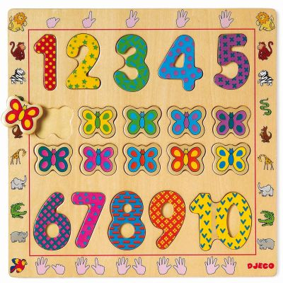 Puzzles  1-10 (20 pièces) Djeco