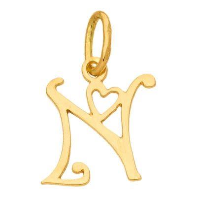 Pendentif initiale N (or jaune 750°)  par Berceau magique bijoux