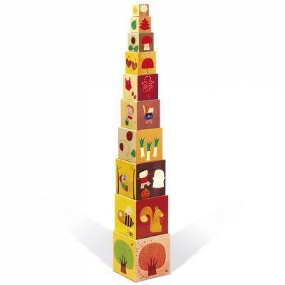 Pyramide de cubes Les 4 saisons (10 pièces)  par Janod