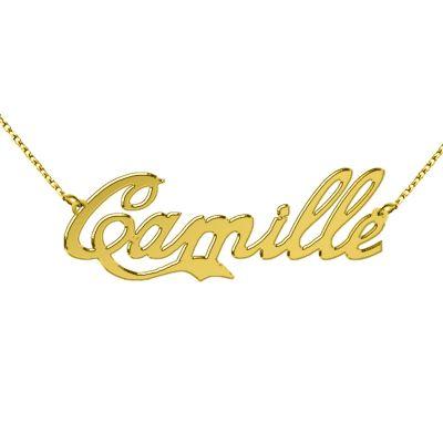 Collier prénom découpé police lokycola (plaqué or)  par Louis de l'Ange