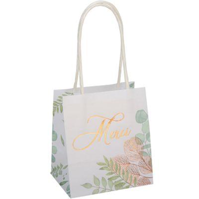 Lot de 6 sacs cadeaux Merci Botanique rose gold