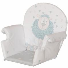 Coussin de chaise haute Plus rabats pvc mouton