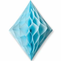 Losange en papier alvéolé bleu clair