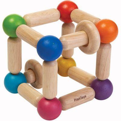Hochet en bois carré souple Plan Toys