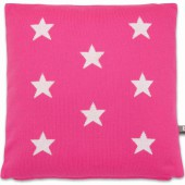 Coussin Star fuchsia et blanc (40 x 40 cm) - Baby's Only
