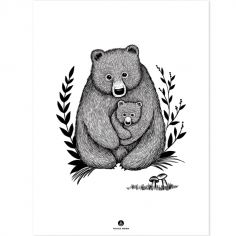 Affiche ours Family bear (30 x 40 cm)