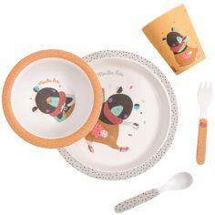 Coffret repas ocre Les jolis trop beaux (5 pièces)