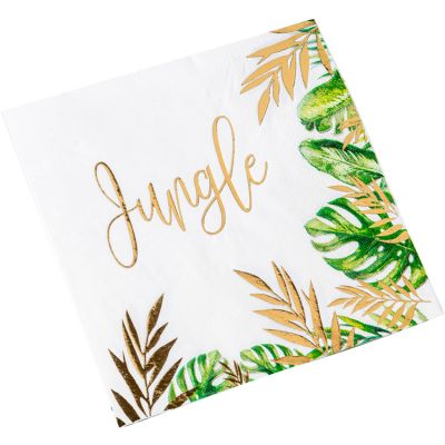Lot de 16 serviettes en papier Tropical Fever  par Arty Fêtes Factory
