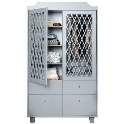 Armoire 2 portes + 4 tiroirs Harlequin grise  par Cam Cam Copenhagen