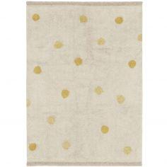 Tapis lavable Hippy Dots natural miel (120 x 160 cm)