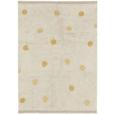 Tapis lavable Hippy Dots natural miel (120 x 160 cm)  par Lorena Canals