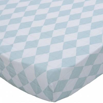 drap housse lit b b jacquart bleu 70 x 140 cm par lodger. Black Bedroom Furniture Sets. Home Design Ideas
