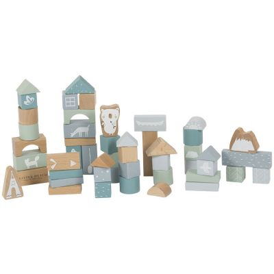Blocs de construction Adventure blue (50 pièces)  par Little Dutch