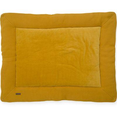 Tapis de jeu réversible Brick velvet moutarde (80 x 100 cm)  par Jollein
